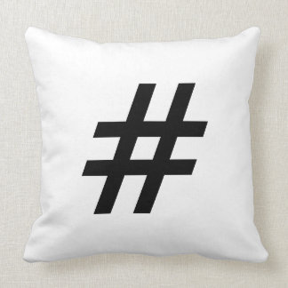 hashtag text symbol letter hash tag throw pillow