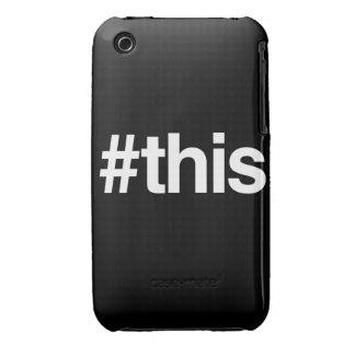 HASHTAG THIS iPhone 3 CASES