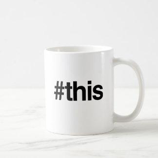 HASHTAG THIS -.png Classic White Coffee Mug