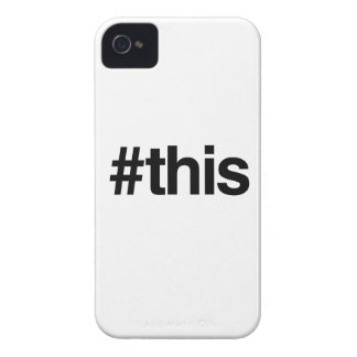 HASHTAG THIS -.png iPhone 4 Case-Mate Cases