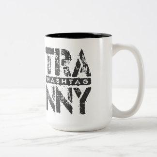 Hashtag TRANNY - Love Rebuilt Transmissions, Black Two-Tone Coffee Mug