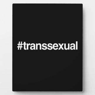 HASHTAG TRANSSEXUAL PLAQUE
