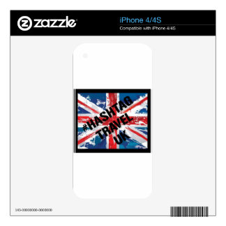 #HASHTAG TRAVEL UK LOGO DECAL FOR THE iPhone 4