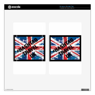 #HASHTAG TRAVEL UK LOGO DECALS FOR KINDLE FIRE