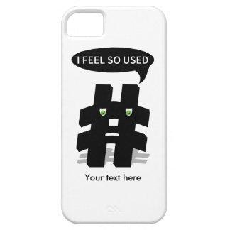 Hashtag usado en exceso lindo funda para iPhone 5 barely there