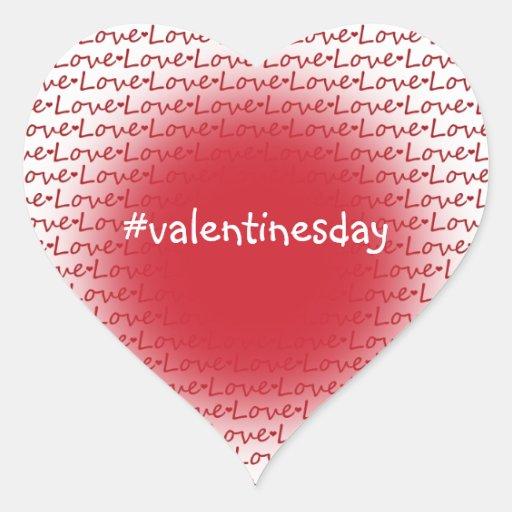 Hashtag Valentine's Day Heart Sticker