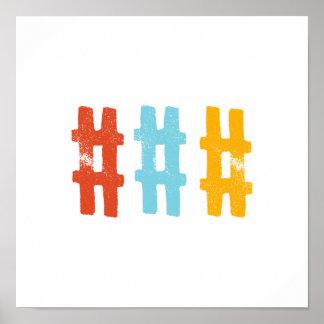 hashtag  wall art