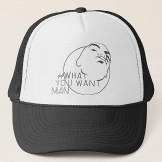 hashtag Yo Man What You Want ( mug shot) Trucker Hat