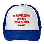 Haskins para alcalde Hat Gorro De Camionero