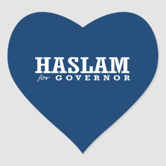 HASLAM FOR GOVERNOR 2014 HEART STICKER