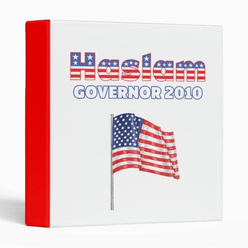 Haslam Patriotic American Flag 2010 Elections Vinyl Binders