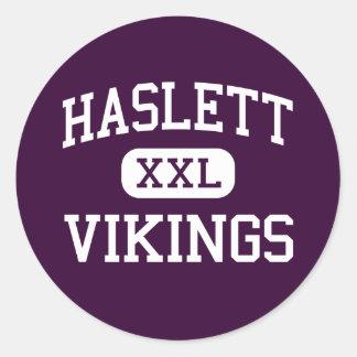 Haslett - Vikingos - High School secundaria - Pegatinas Redondas