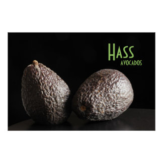 Hass avocados poster