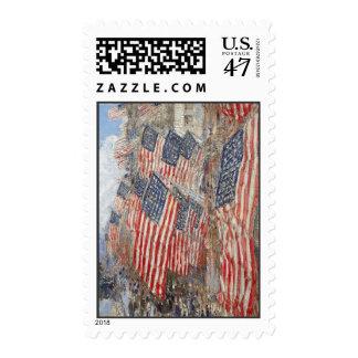 Hassam 4 de julio sellos postales