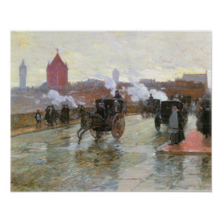 Hassam - Clearing Sunset Poster