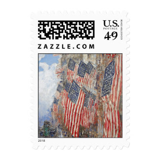 Hassam's July 4th Postage Stamps