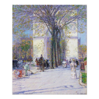 Hassam - Washington triumphal arch in spring Poster