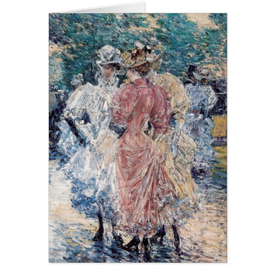 """Hassam's """"Conversation on the Avenue"""" - Card"""
