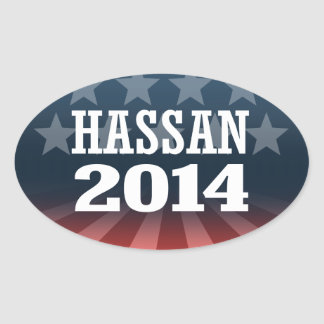 HASSAN 2014 OVAL STICKER