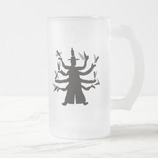 Hassidic Bottle Dance Frosted Glass Beer Mug