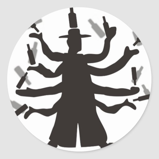 Hassidic Bottle Dance Stickers