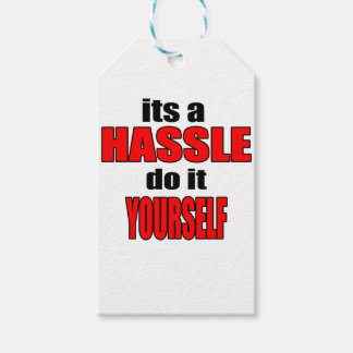 HASSLE doityourself annoying work boss task skippi Gift Tags