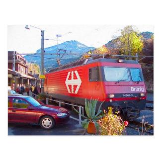 Hassliberg rail crossing, 1 postcard