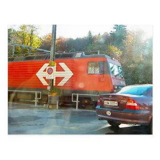 Hassliberg rail crossing, postcard