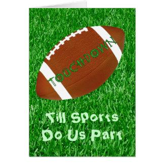 Hasta deportes háganos parte tarjeta de felicitación