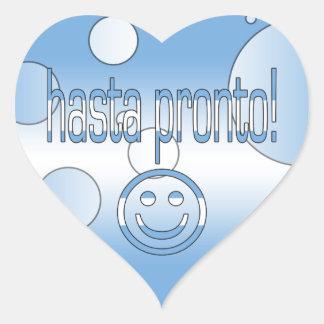 Hasta Pronto! Argentina Flag Colors Pop Art Heart Sticker