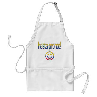 Hasta Pronto! Colombia Flag Colors Adult Apron
