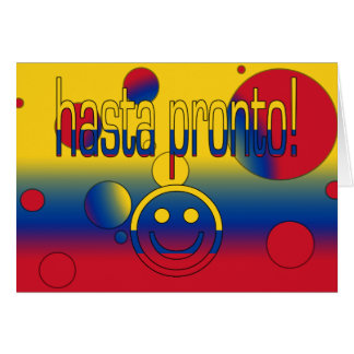 Hasta Pronto! Colombia Flag Colors Pop Art Card