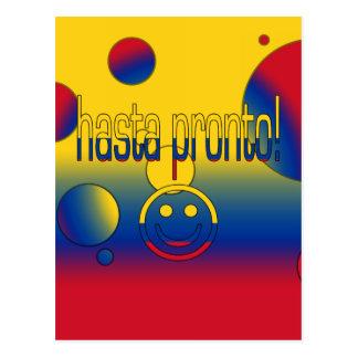 Hasta Pronto! Colombia Flag Colors Pop Art Postcard