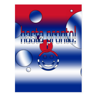 Hasta Pronto! Cuba Flag Colors Pop Art Postcard