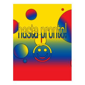 Hasta Pronto! Ecuador Flag Colors Pop Art Postcard