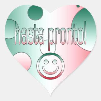 Hasta Pronto! Mexico Flag Colors Pop Art Heart Sticker