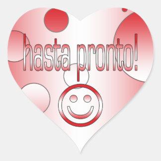 Hasta Pronto! Peru Flag Colors Pop Art Heart Sticker