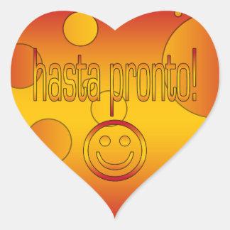 Hasta Pronto! Spain Flag Colors Pop Art Heart Sticker