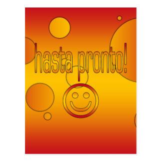 Hasta Pronto! Spain Flag Colors Pop Art Postcard