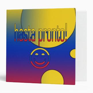 Hasta Pronto! Venezuela Flag Colors Pop Art 3 Ring Binder