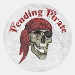 Hasta que finalice pirata pegatinas