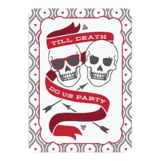 Hasta que la muerte nos hace fiesta - invitación invitación 12,7 x 17,8 cm