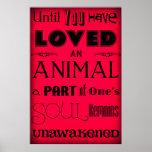 """""""Hasta que usted ha amado un animal…"""" Rojo del pos"""