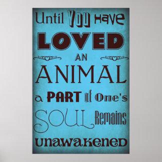Hasta que usted ha amado… un azul animal del pos