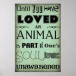 """""""Hasta que usted ha amado… """"un poster animal"""