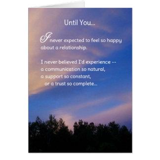 Hasta usted… romance tarjeta de felicitación