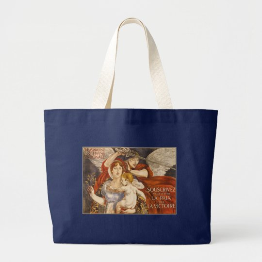 Hasten the Peace - French WW1 Large Tote Bag