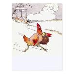 Hastily Hurrying Hen Postcards