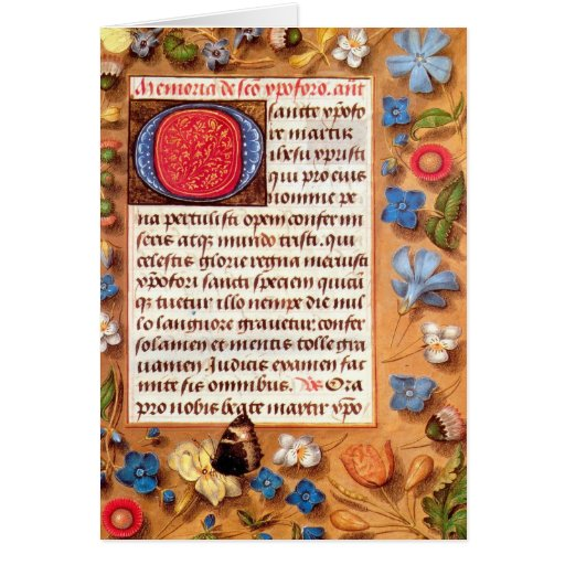 Hasting Book of Hours Greeting Card