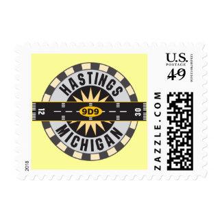 Hastings, aeropuerto del MI 9D9 Sello Postal